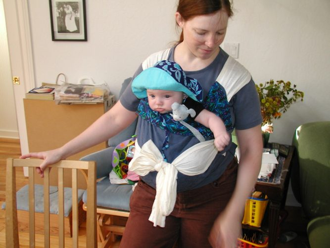 écharpe de portage porte-bébé