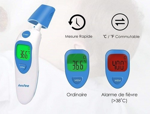 avis test thermometre frontal infrarouge aesfee