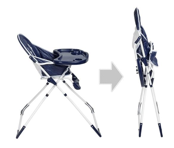 chaise bébé haute facile à ranger
